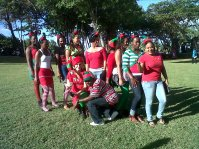Elfs from Sandals Foundation who treated the children at their Christmas Party